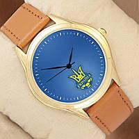 Годинник Україна, корпус золотистий, фото 1
