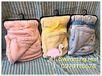 Детский теплый двухсторонний плед одеяло отличное качество 75х100