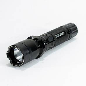🔝 Мощный фонарик, Police 1101, Черного цвета, светодиодный фонарь | 🎁%🚚