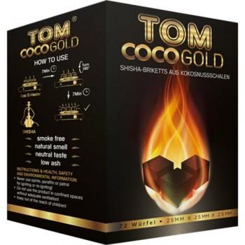 Уголь для кальяна Tom Cococha Gold 1 кг (кокосовый, 72 кубика)