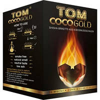 Уголь для кальяна Tom Cococha Gold 1 кг (кокосовый, 72 кубика), фото 1