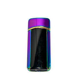 🔝 Электронная сенсорная зажигалка Classic Fashionable BMW (5403 H1) Фиолетовая, от USB аккумуляторная | 🎁%🚚