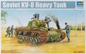 КВ-8. Сборная модель советского тяжелого танка в масштабе 1/35. TRUMPETER 01565