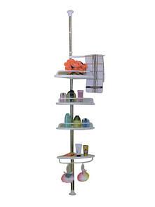 🔝 Угловая полка для ванной комнаты Aidesen ADS-188 Multi Corner Shelf, металлическая полочка | 🎁%🚚