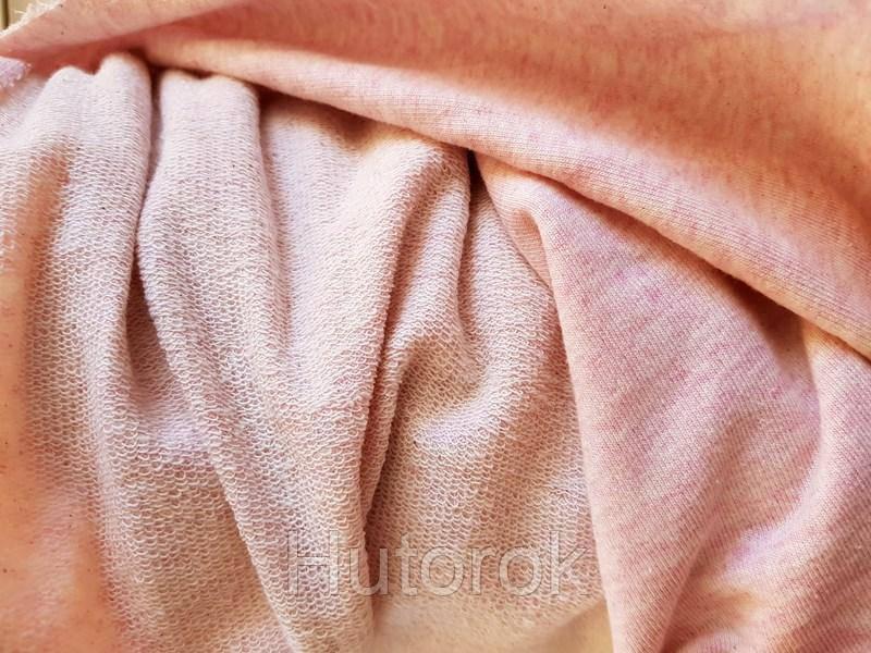 Трехнитка петля меланж (розовый)