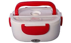 🔝 Автомобильный ланч бокс с подогревом, термоконтейнер для еды, YS-001, с кабелем 220V, цвет - красный | 🎁%🚚