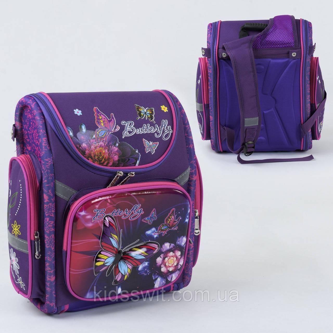 Рюкзак шкільний каркасний 1 відділення, 3 кишені, ортопедична спинка, 3D зображення З 36187