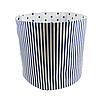 Мешок (корзина) для хранения, Ø45 * 40 см, (хлопок), с отворотом (полоски синие / синие звездочки), фото 2