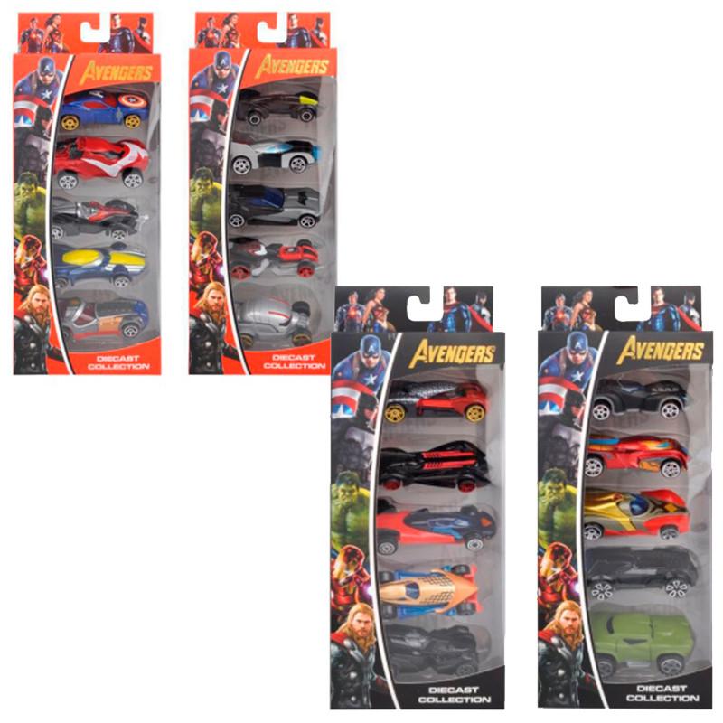 """Машинки металеві набір """"Avengers"""" 307-5"""