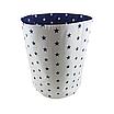 Мішок ( корзина ) для зберігання, Ø35*45 см, (бавовна), з відворотом (сині зірочки/зірочки на синьому), фото 2