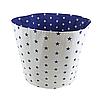 Мішок ( корзина ) для зберігання, Ø45*40 см, (бавовна), з відворотом (сині зірочки/зірочки на синьому), фото 2