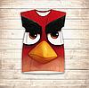 Платье-туника 3D для девушек Angry Birds Red Взрослые и детские размеры