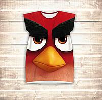 Платье-туника 3D для девушек Angry Birds Red Взрослые и детские размеры, фото 1