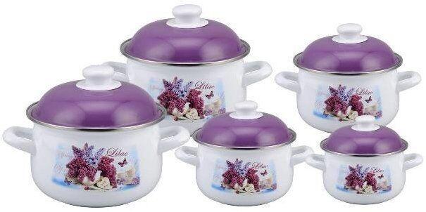 Набор эмалированной посуды Edenberg  EB-1872 из  10 предметов