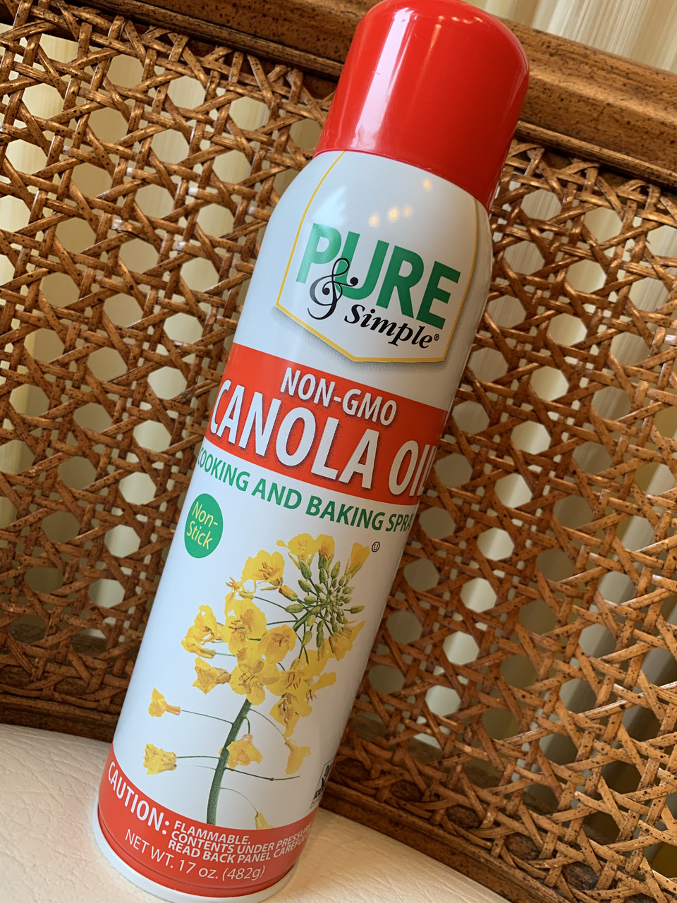 Распыляющееся масло Канола для не пригорания пищи PURE and SIMPLE  Canola Oil Cooking Spray