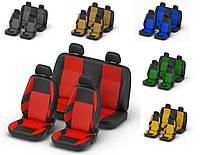 Авточехлы Dacia Logan MCV 5 мест с 2006 г деленная красные