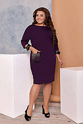 Платье  БАТАЛ камни в расцветках 01149