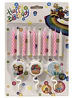 """Свечи для торта """" С Днем Рождения """" холодное сердце"""