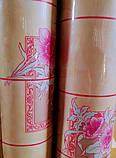 Клеенка Розовая Плитка на стол и на оклейку ПВХ на нетканой основе 30 м, фото 3