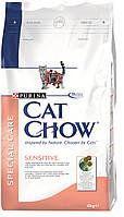 Cat Chow (Кет Чоу) Sensitive Корм для кошек с чувствительным пищеварением 15 кг