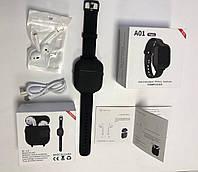 Браслет с беспроводныминаушникамиА01, чёрные наушники в кейсе. Bluetooth наушники