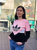 Свитшот женский Adidas / CLO-050 (Размер:L,XL)
