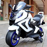 Детский электро-мотоцикл T-7229 Белый