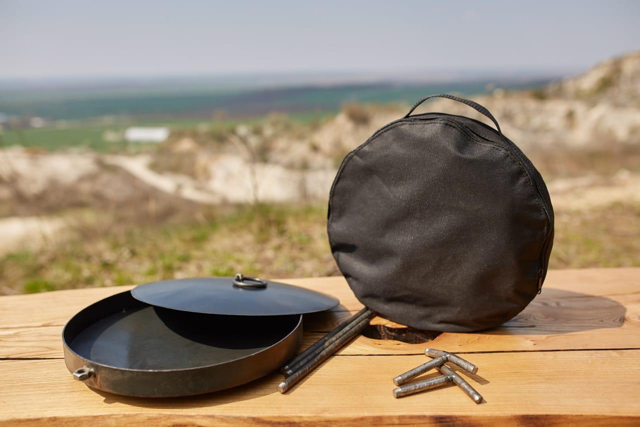 Сковорідка 60 см з кришкою і чохлом Буковинка