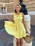 Жіночий сарафан льон з оборками короткий (в кольорах), фото 7