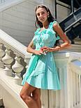 Женский сарафан лен с оборками короткий (в расцветках), фото 10