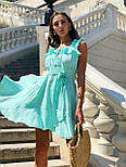 Женский сарафан лен с оборками короткий (в расцветках), фото 9