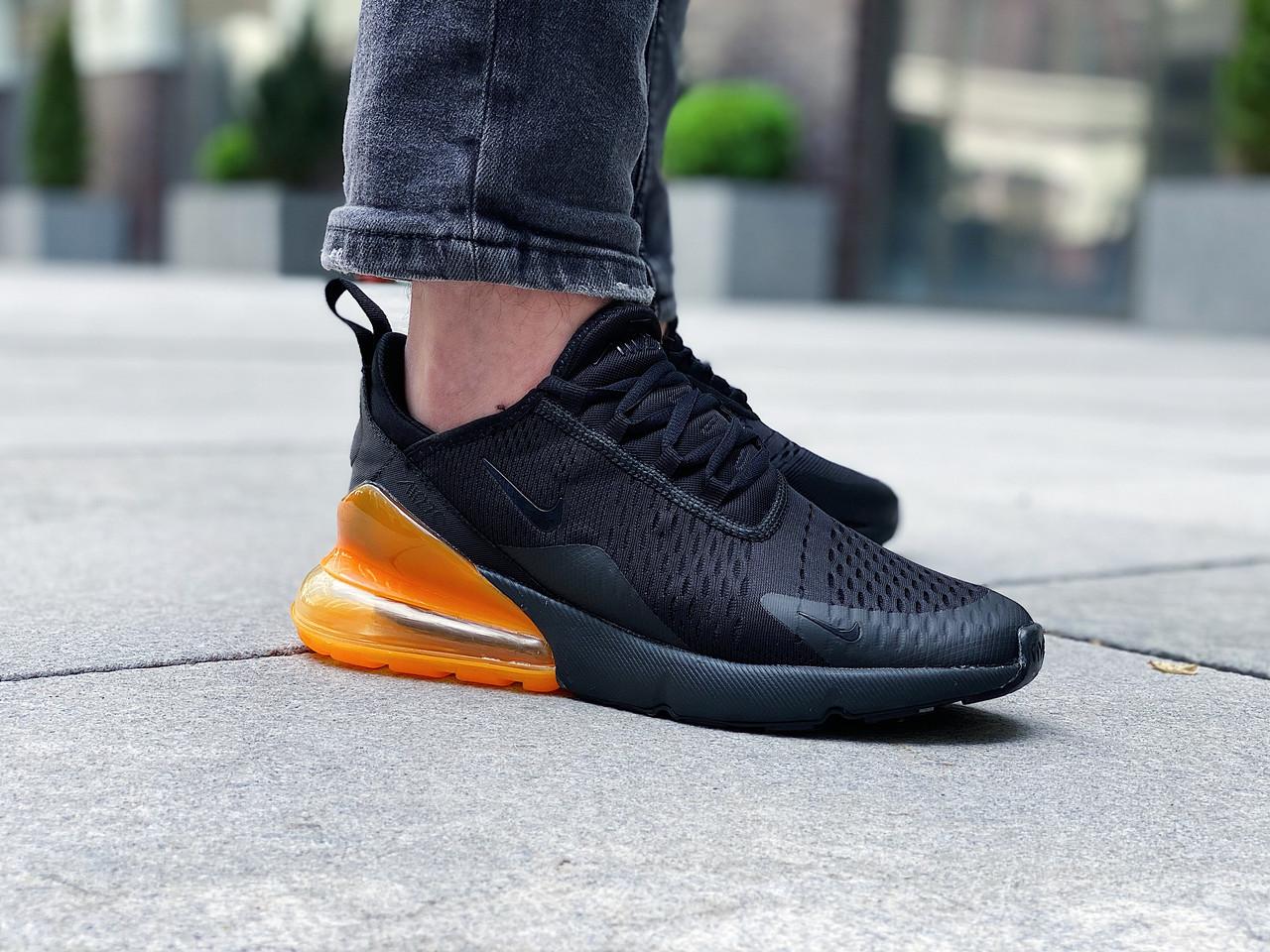 "Кроссовки мужские Nike Air Max 270 ""Black/Total Orange"" / AH8050-008 (Размеры:41,42,44,45)"