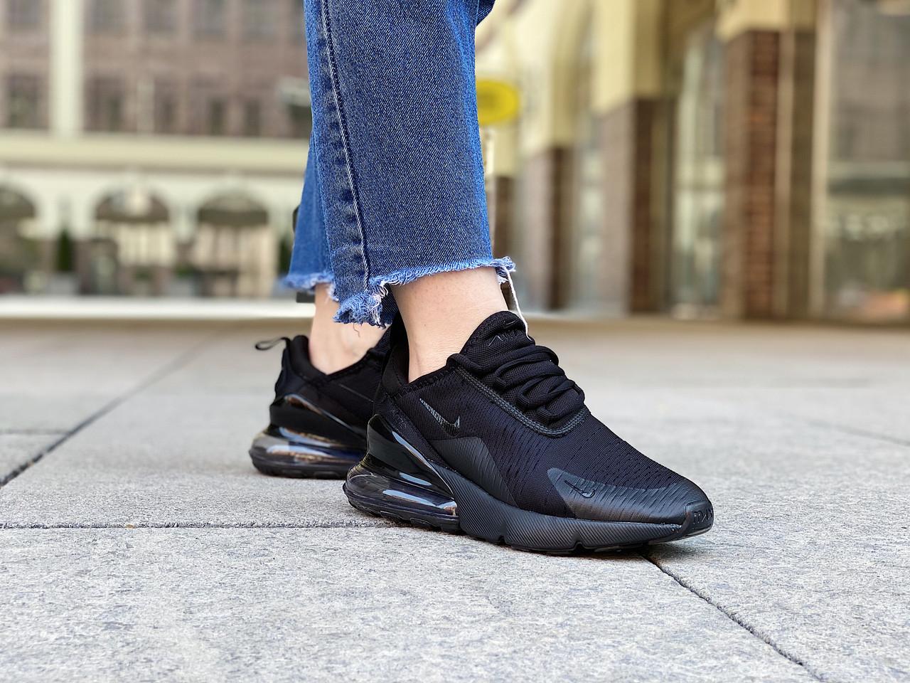 "Кроссовки женские Nike Air Max 270 ""Triple Black"" / AH8050-005 (Размеры:36,38,39)"