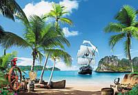 """Фотообои """"Пиратский остров 196х280 (16Л)"""" Ника"""