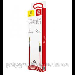 Аудио - кабель AUX Baseus Yiven Audio Cable M30 1.5M Red+Black