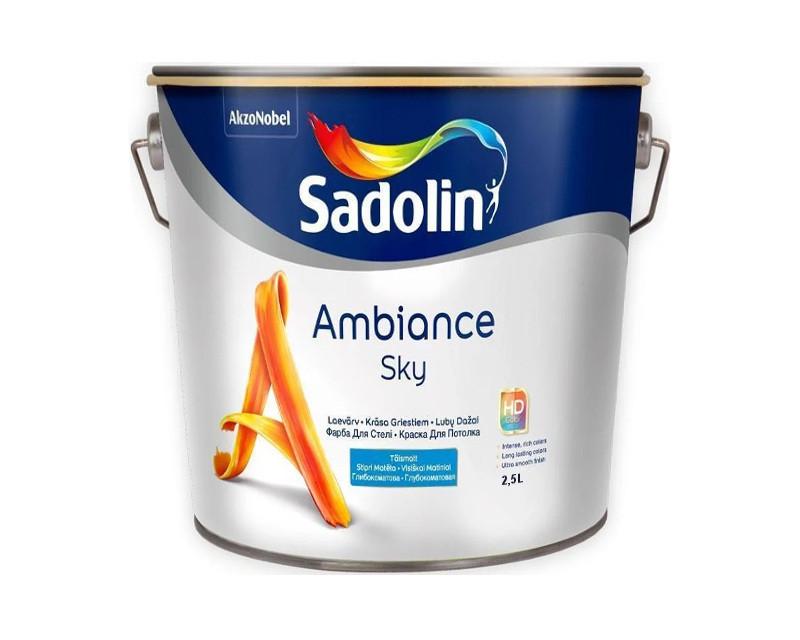 Акрилатна фарба SADOLIN AMBIANCE SKY для стель білий (база ВW) 2.5 л