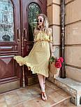 Женский летний сарафан/платье с открытыми плечами и оборками миди, фото 2