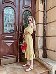 Женский летний сарафан/платье с открытыми плечами и оборками миди, фото 5
