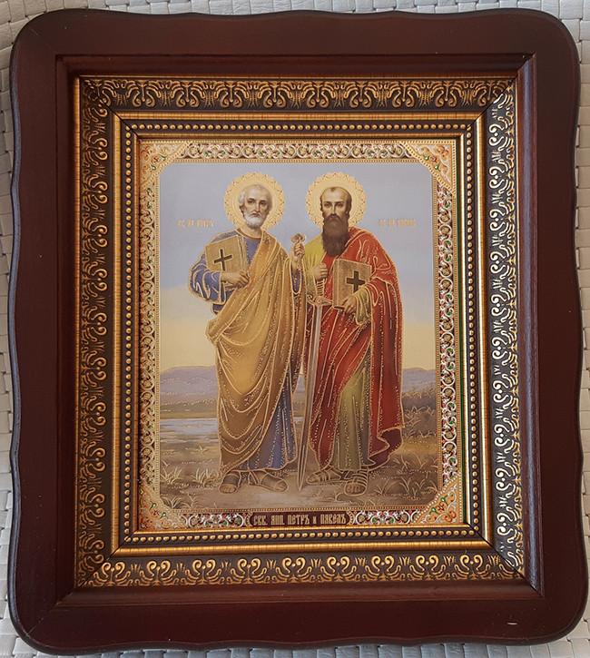 Икона святых апостолов Петра и Павла на подарок 23*26см