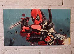 "Картина на дереве - Постер ""Дэдпул Deadpool"" 35 x 19 см"