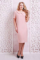 Летнее платье-футляр ВЕРДИ розовое, фото 1