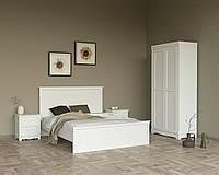 Спальня МДФ (Кровать двуспальная, тумбы прикроватные 2шт., шкаф платяной 2-х дверный)