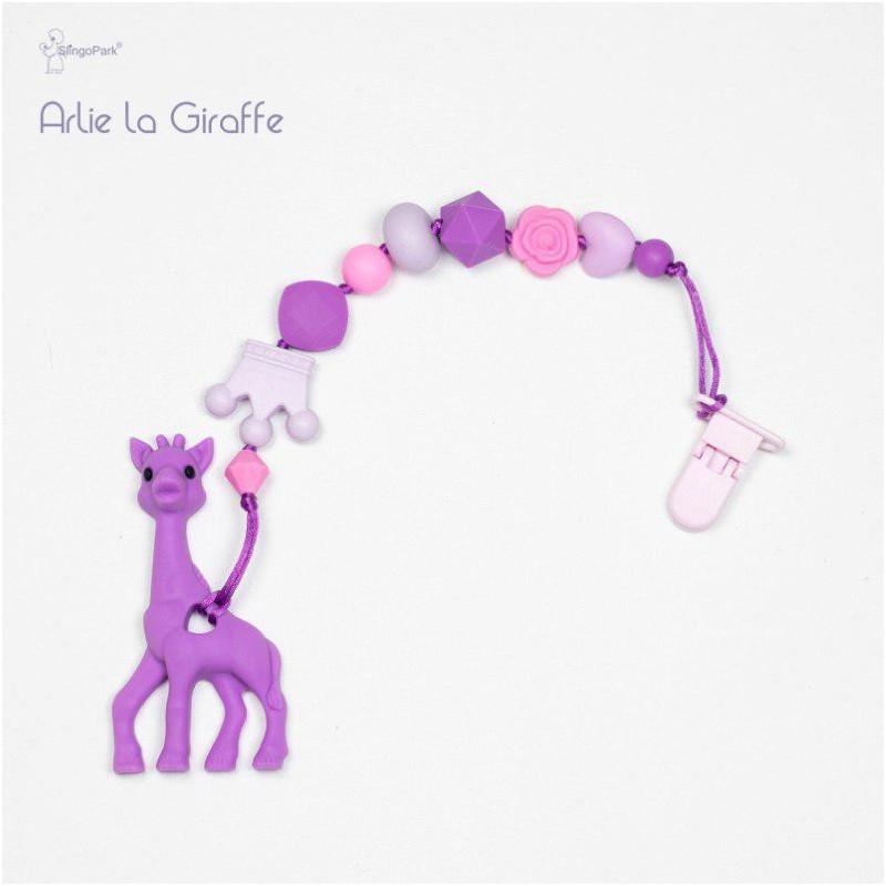 Силіконовий гризунок з держателем BABY MILK TEETH Arlie la Giraffe
