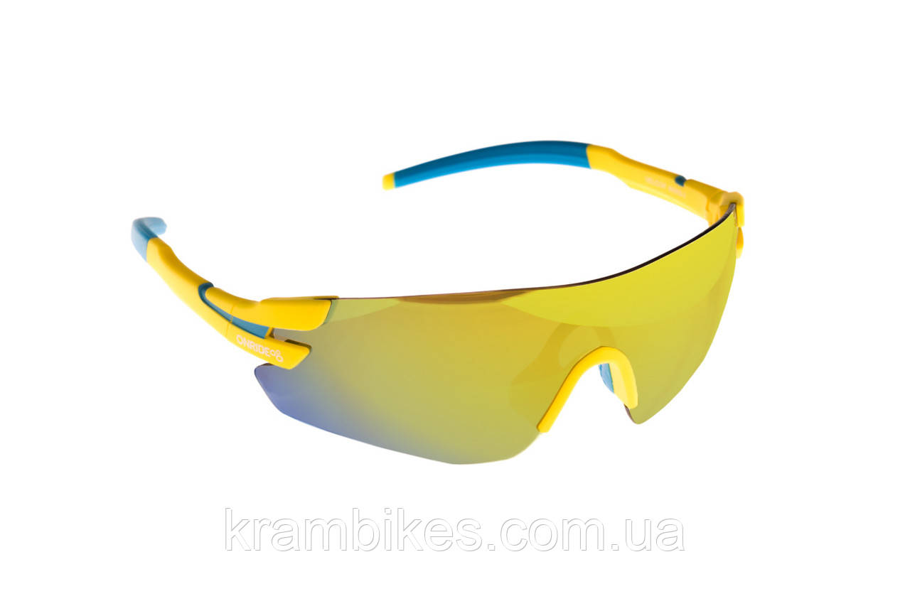 Очки Onride - Velcor жовтий/блакитний з лінзами Revo/Clear/Orange