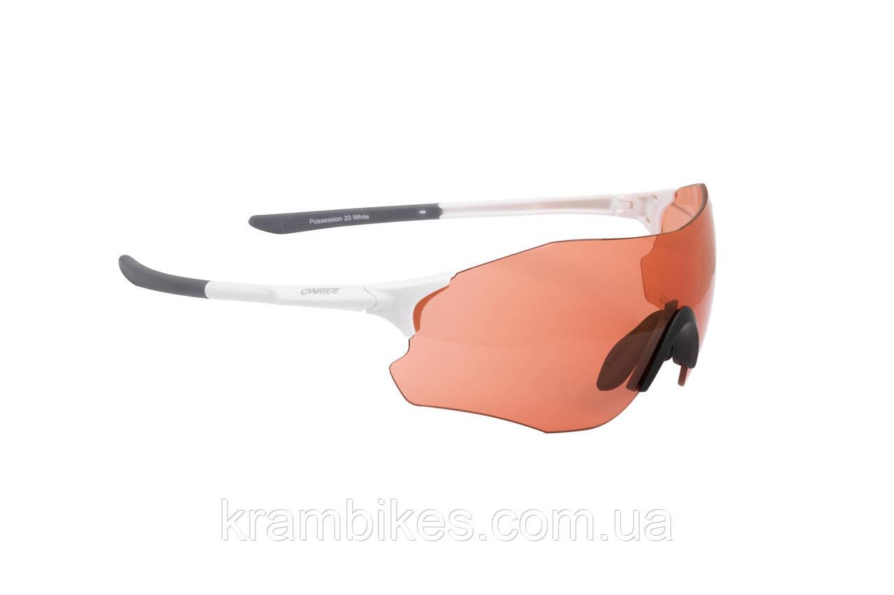 Очки Onride - Possession 20 матові білі з лінзами помаранч (51%)