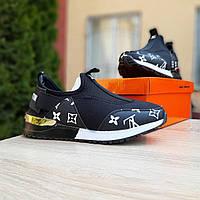 Женские кроссовки в стиле Louis Vuitton черные