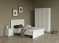 Спальня МДФ (Кровать двуспальная, тумбы прикроватные 2шт., шкаф платяной 3-х дверный)