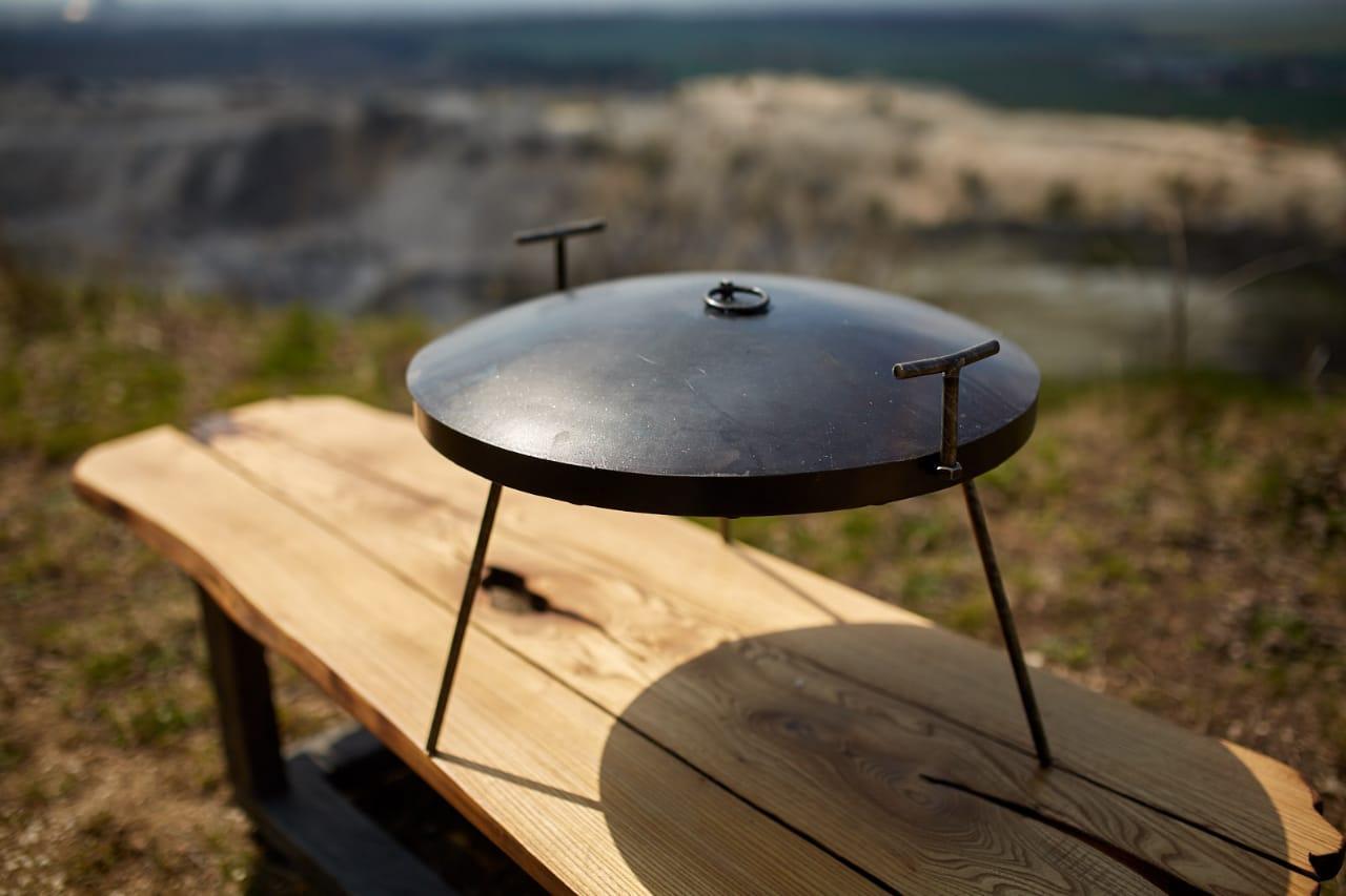 Сковородка 40 см с крышкой Буковинка