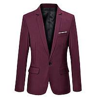 Мужской классический пиджак синий и черный с белым карманом, молодежный пиджак под джинсы красный, M