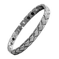 Браслет магнитный Kiso energy silver
